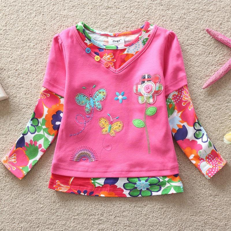 HTB1p4ZnfN6I8KJjSszfq6yZVXXaM - Girls Long Sleeve All Year T-Shirt, Long Sleeve, Cotton, Various Designs and Prints
