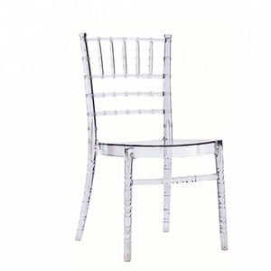 Transparent white crystal clear acrylic wedding chair resin tiffany chair
