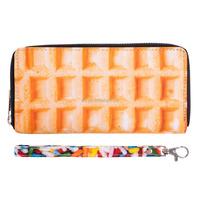 Zohra digital print waffle wallet women custom wallet and purse