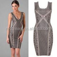 guangzhou bandage dress wholesale/OEM/ODM indian ladies fashion dress