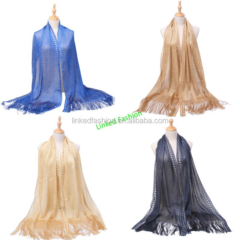 Womens Sheer Bridal Weddings Party Evening Shawl Wrap Fringed Sparkle shiny Scarf