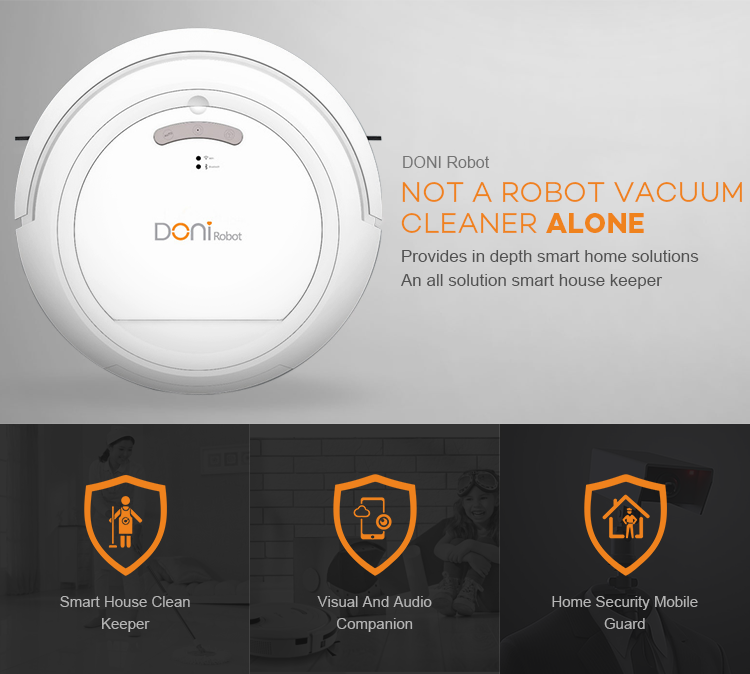 OEM smart sweeping robot cleaner with Bluetooth stereo player & IP camera for home