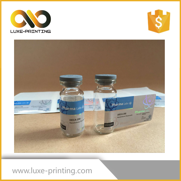 Factory price sell vial labels on Alibaba custom own logo on the flip cap or on the vial galss