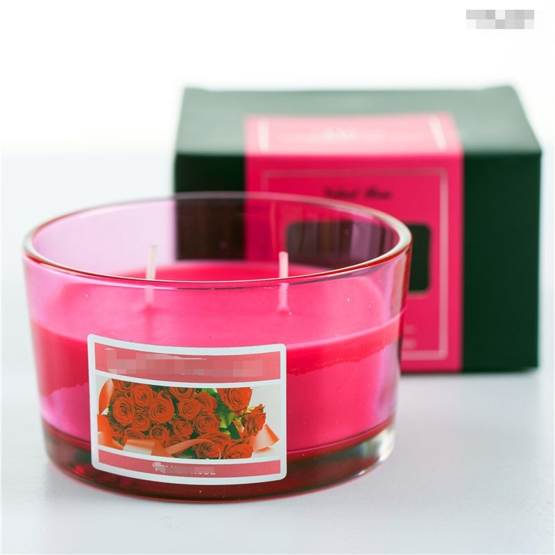 Multi Wicks Colored Home Fragrances Scent Diffusers Glass Jar Candles