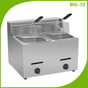cheap oil system kfc stainless steel automatic deep pressure gas fryer for banana potato chip bean peanut churro vegetable BN72