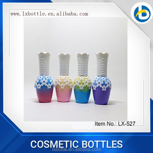 Guangzhou Lianxin Painting Electroplating with hot stamping Coating nail varnish oil bottle