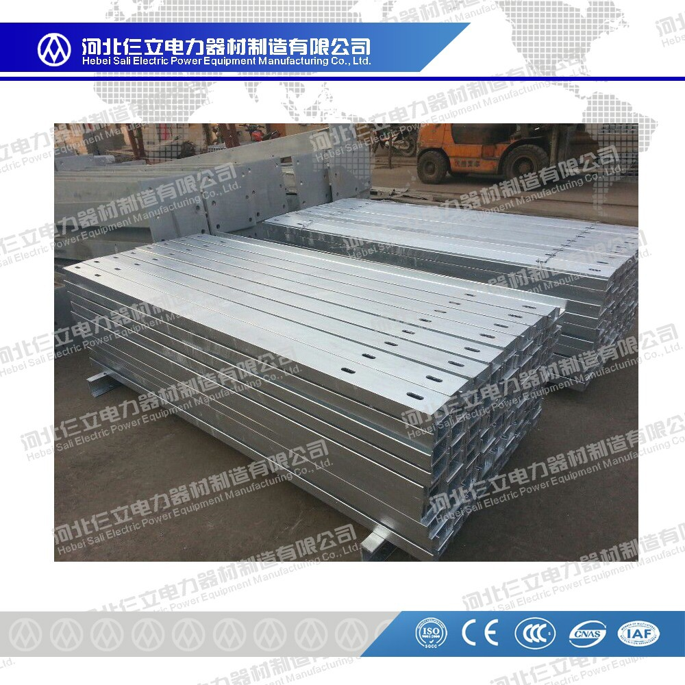 Overhead Line Power Accessories/Galvanized U Channel Cross Arm/Pole Arm