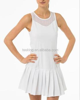 Diseño Personalizado Blanco Llano Plisado Vestido De Tenis Para Las Mujeres Buy Vestido De Tenistenis De Las Mujeresvestido Blanco Plisado Vestido