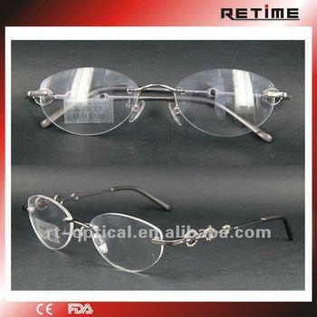 Naturally Rimless Eyeglass Frames,Designer Frame,Glasses(r-001 ...