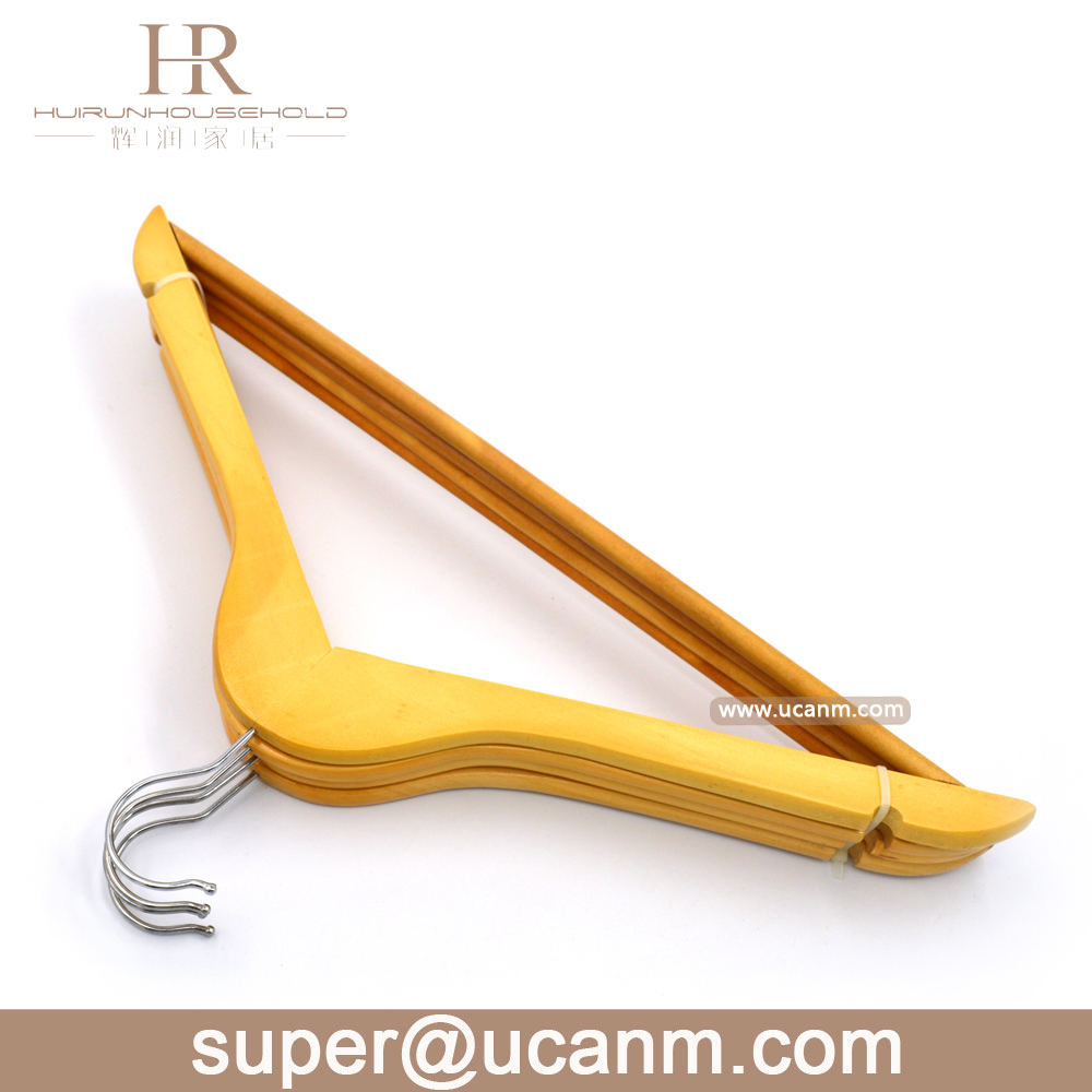 Wooden hanger dress stand for hotel