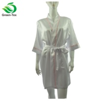 Bunte Frauen <span class=keywords><strong>Sexy</strong></span> Short Robe Piping Hochzeit Satin Nighty