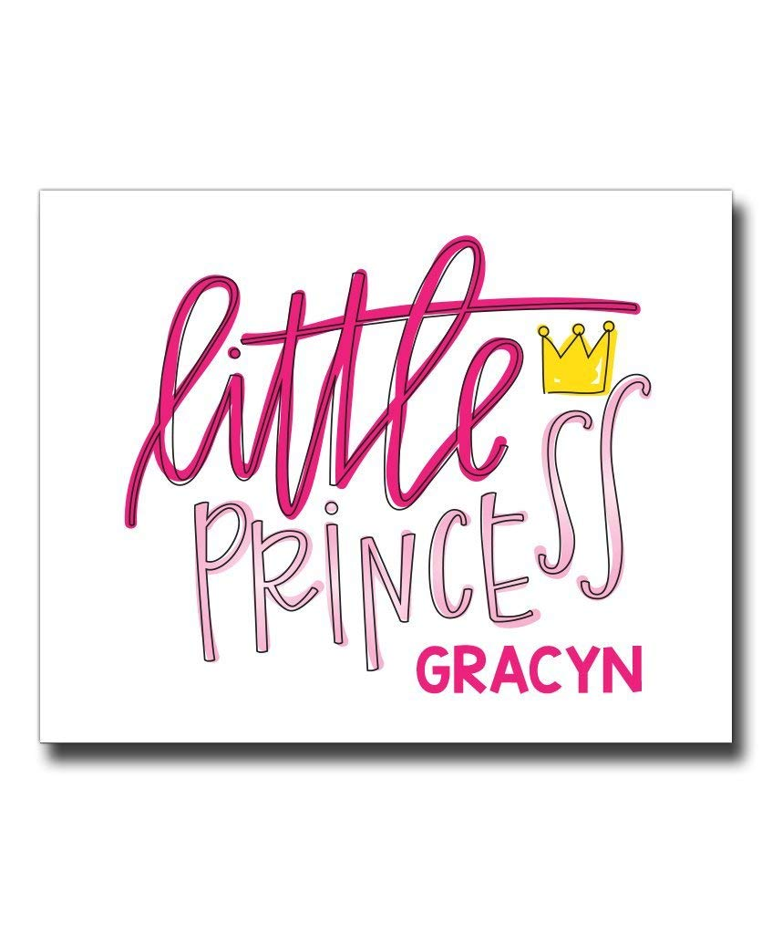 Princess Print | Princess Decor | Girl Nursery Art | Nursery Decor | Girls Room Sign | Personalized Nursery Decor | Princess Wall Art | Girls Wall Decor | Girls Wall Art