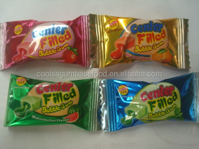 Hot sale african center filled bubble gum