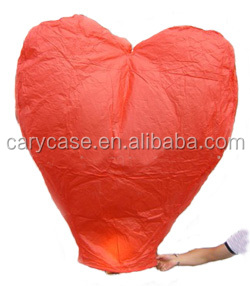 Heart shape Wholesale Flying Chinese Sky Lanterns, Cheap Custom 100% Biodegradable Kongming Lantern
