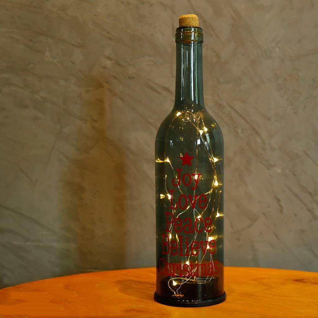 8b46d85d3e5 Get Quotations · TTTD Desktop Pendulum Glass Wine Bottle Decoration Crafts  Suitable for Restaurant Show Window Desktop Decorations