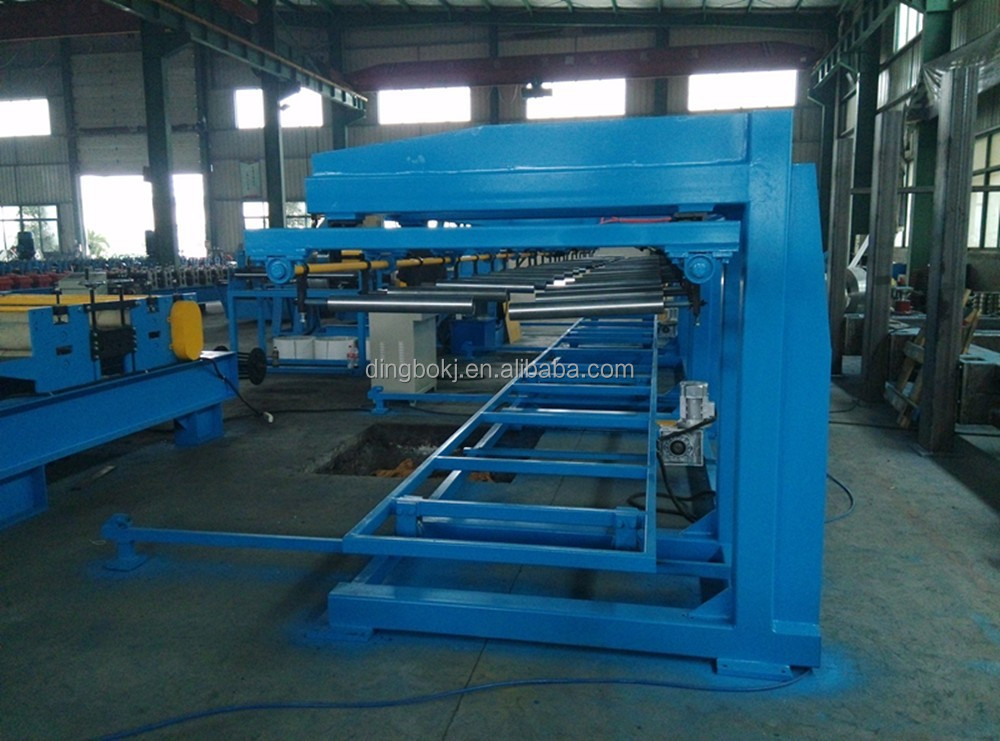 Full automatic steel roof panel stacker machine