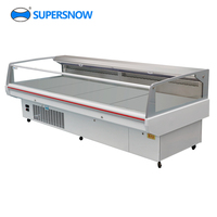 Top open type commercial supermarket deli and meat reach in display cooler for sale