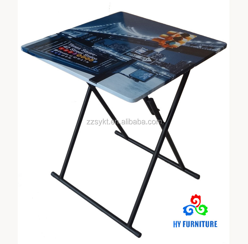Customized metal steel frame furniture small folding study table