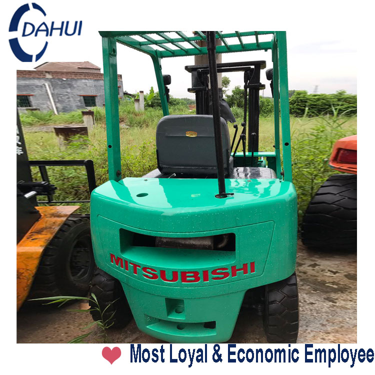 Dahui 3m lifting renew MITSUBISHI diesel forklift used for sale