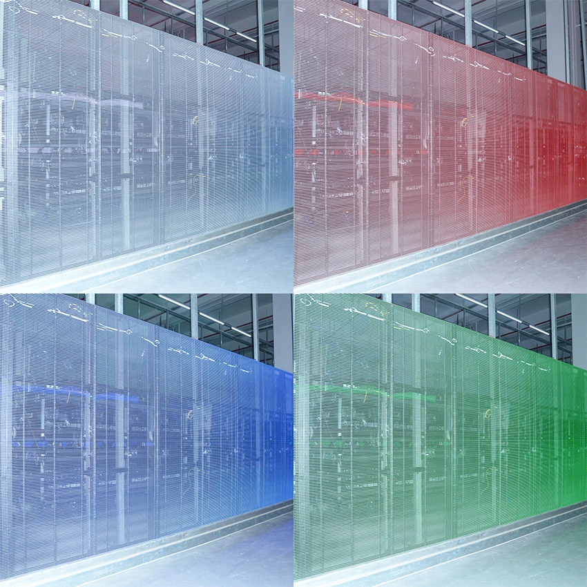 glass led curtain smd full color transparent led display screens for window