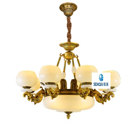 Europe type droplight zinc alloy lamp arm sitting room lamp scagliola bedroom chandeliers