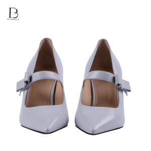 Genuine leather stylish fabric lady thick sole shoes for women
