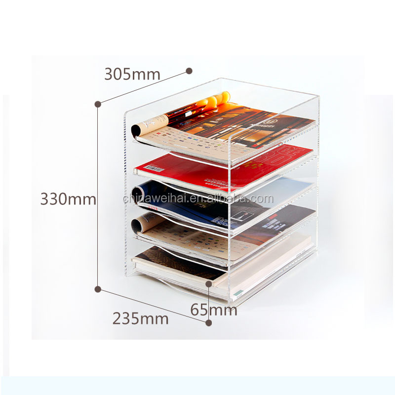 customized design acrylic pen display stand brush markers display pen dispenser