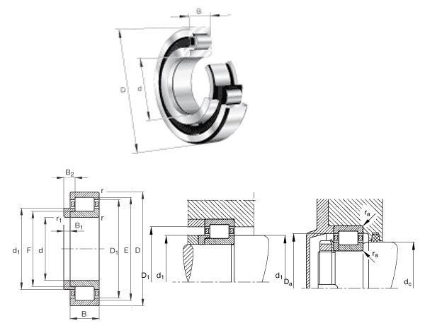 NJ413-M1 Different Types Of Bearings Catalog 65x160x37 mm Cylindrical Roller Bearing NJ413