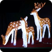Reindeer xmas decorations outdoor lit reindeer large christmas deer lawn ornaments
