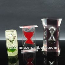 Decorative cheap resin water hourglass sand timer