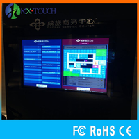 "55"" customized screen advertising mirror pc screen smart mirror touch screen windows os/android lcd digital signage"