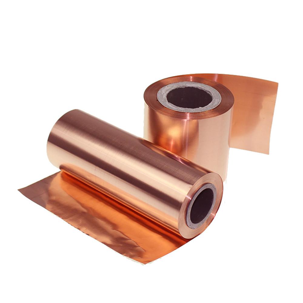 Rolle St/ärke 200 mm x 1000 mm 0,1 mm Kupferfolie hochreines Kupfer