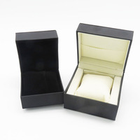 custom black leather jewellery container wholesale bracelet watch box case