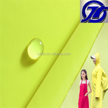 100% polyester taffeta 190T pu pvc coated waterproof raincoat fabric