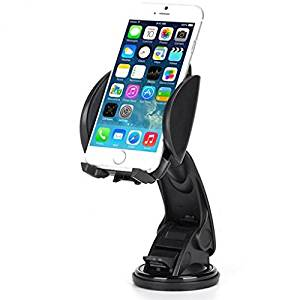 Premium Car Mount Holder Dash Windshield Cradle Stand Window Glass Swivel Dock Suction Adjustable for Verizon HTC One M9 - Verizon HTC One Max - Verizon HTC One Remix - Verizon Kyocera DuraForce Pro
