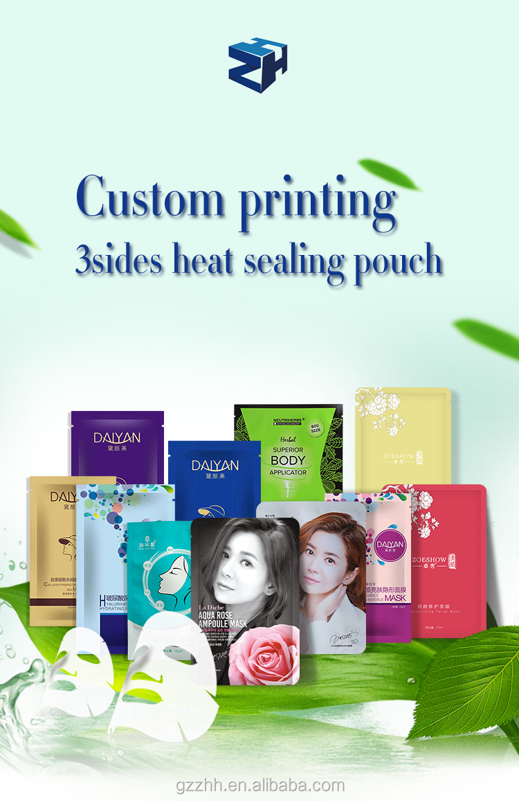 special-shaped hair mask stand up plastic packaging bag with spout
