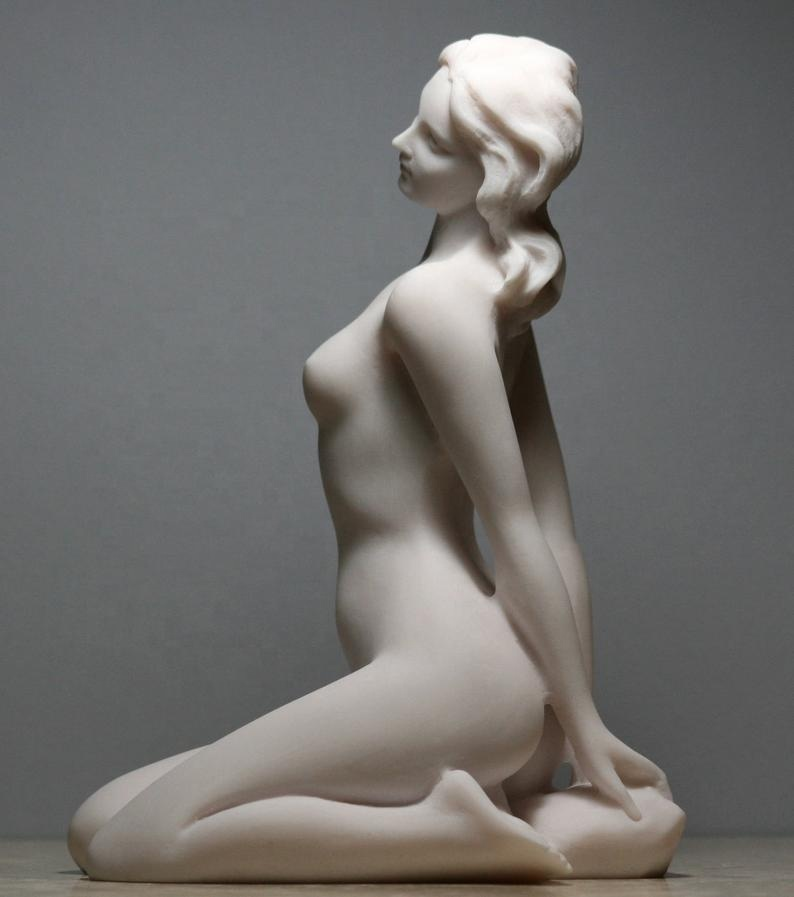 Home decoration resin nude art woman statue for sale