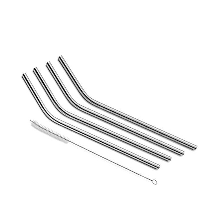 8-Pack Stainless Steel Metal Straws with 2 Cleaning Brush - Reusable Drinking Straws For 30oz / 20oz Tumblers