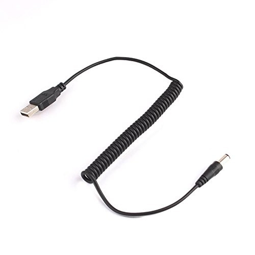 1.5M Spring Coiled USB 2.0 to DC 5.52.1MM cable