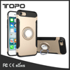 2 in 1 Hybrid Soft TPU Hard PC Ring Bracket Shell Car Mount Holder Plastic Armor Phone Case For iPhone 6s 7 plus For samsung S8