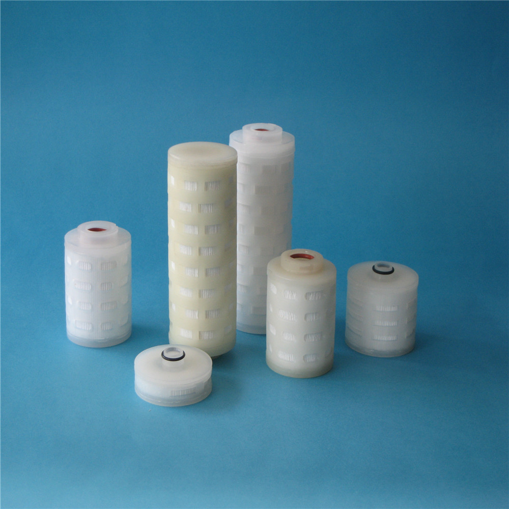 0.22 micron hydrophobic PTFE pleated filter cartridge for gas <strong>filtration</strong>