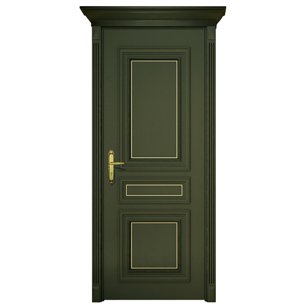 2014 New Design Single Modern Best Wooden Casting Aluminum Door