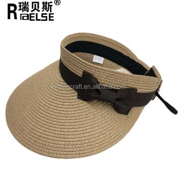 New Cute Bow Foldable Sun Hat Beach Large Wide Brim Straw Visor Womens  Summer Plaited Straw 0f21f1e78b2