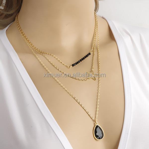 6726555e5fde Popular Occidental Multicapa Collar De Cadena De Oro Diseños - Buy ...