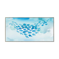 Modern Fish Printed Oil Painting for Hotel Living Room Bedroom Office