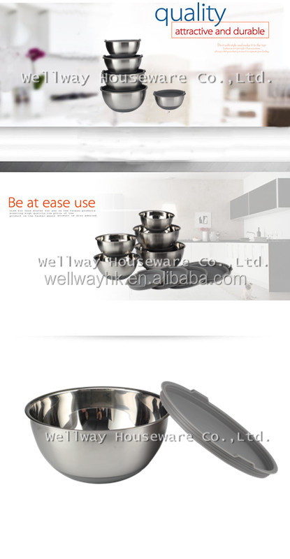 Top Rated Mixing Bowls With Lids, Thicker Stainless Steel Bowl Set With Non Slip Silicone Base and Large 5 Qrt Capacity