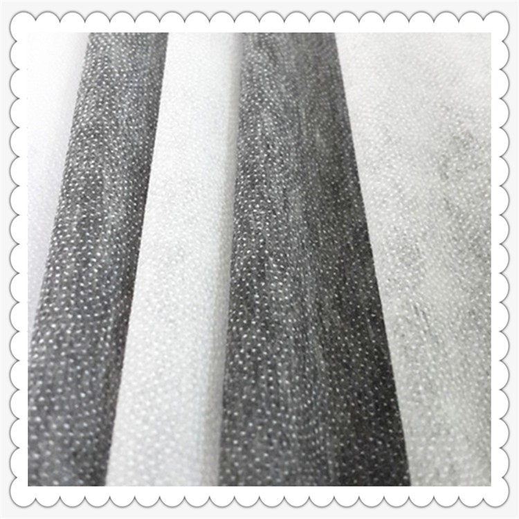 microdot nonwoven Double dot interlining 7050F adhesive fusing fabric China manufacturer