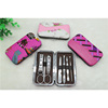7pcs Nail Care Set Girls Manicure Kit Set with Color Painting Leather Case