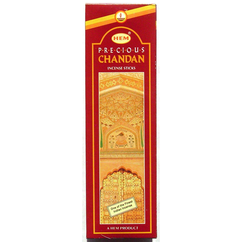Hem PRECIOUS Chandan Incense Sticks 6 Pack 20 Stick Hex Tubes 120 Sticks By Hem