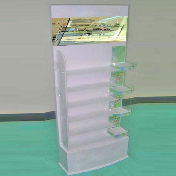 3-tier Bottle Shape Display Rack Acrylic Mineral Water Bottle ...